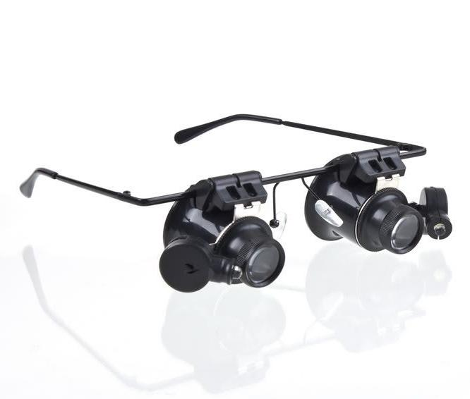 New 20X Double Layer Lens Magnification Glasses Type Watch Repair Magnifier with LED Light New Arrival