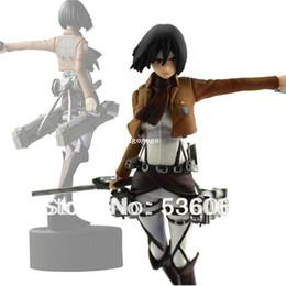 """Wholesale Titan Mikasa - 4.7"""" Shingeki No Kyojin Attack On Titan Mikasa Ackerman PVC Figure Doll Gift New Free Shipping"""