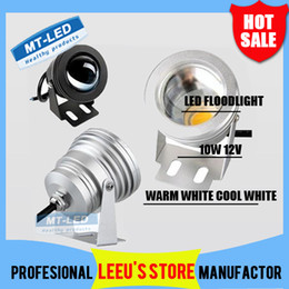 Wholesale Warm White Led Flood 12v - X20 DHL Free shipping 10W Floodlight light Underwater LED Flood Lights Swimming Pool Outdoor Waterproof lighting Round DC 12V Convex Lens