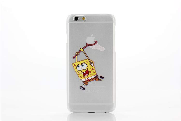 Cool Transparent Simpson Hand Grasp Snow White Pattern Back Decal - Spongebob macbook decal