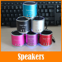 Wholesale External Speakers For Mobile Phones - Z12 Portable TF Card Bass Speakers Best External Laptop Mini Small Speaker For iPhone Computer Mobile Phone MP3 MP4 With Retail Box