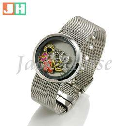 $enCountryForm.capitalKeyWord Canada - Newest fashion 30mm 316L stainless steel floating charm bracelet belt Watch Bracelet high quality newest jewelry