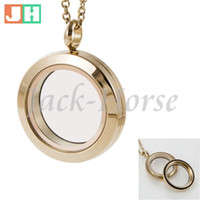 Wholesale Rose Gold Floating Locket Wholesale - High quality 25mm Water Proof 316L stainless steel screw locket rose gold floating charm locket free shipping
