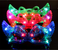 LED Flash farfalla Occhiali Light Up di rave Giocattoli per le forniture di decorazione di Halloween Masquerade Mask Dress Up Christmas Party