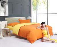 folhas laranja cama venda por atacado-NOVO - têxteis-lar, laranja / amarelo conjuntos de cama incluem consolador capa lençol fronha, roupa de cama, roupa de cama, frete grátis