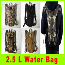 Wholesale Backpack Camel - 2014 New Arrival 2.5L Aduclts outdoor gear sports backpacks Nylon Multi-function Mountaineering Camouflage Camel Water Bag A255X