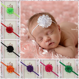 Wholesale Mix Colour Hair - 5 cm Infant Hair Accessories Satin folds Fine with Flower baby Hair Band Kids Headband Babies Toddler Head Band Mix Colour