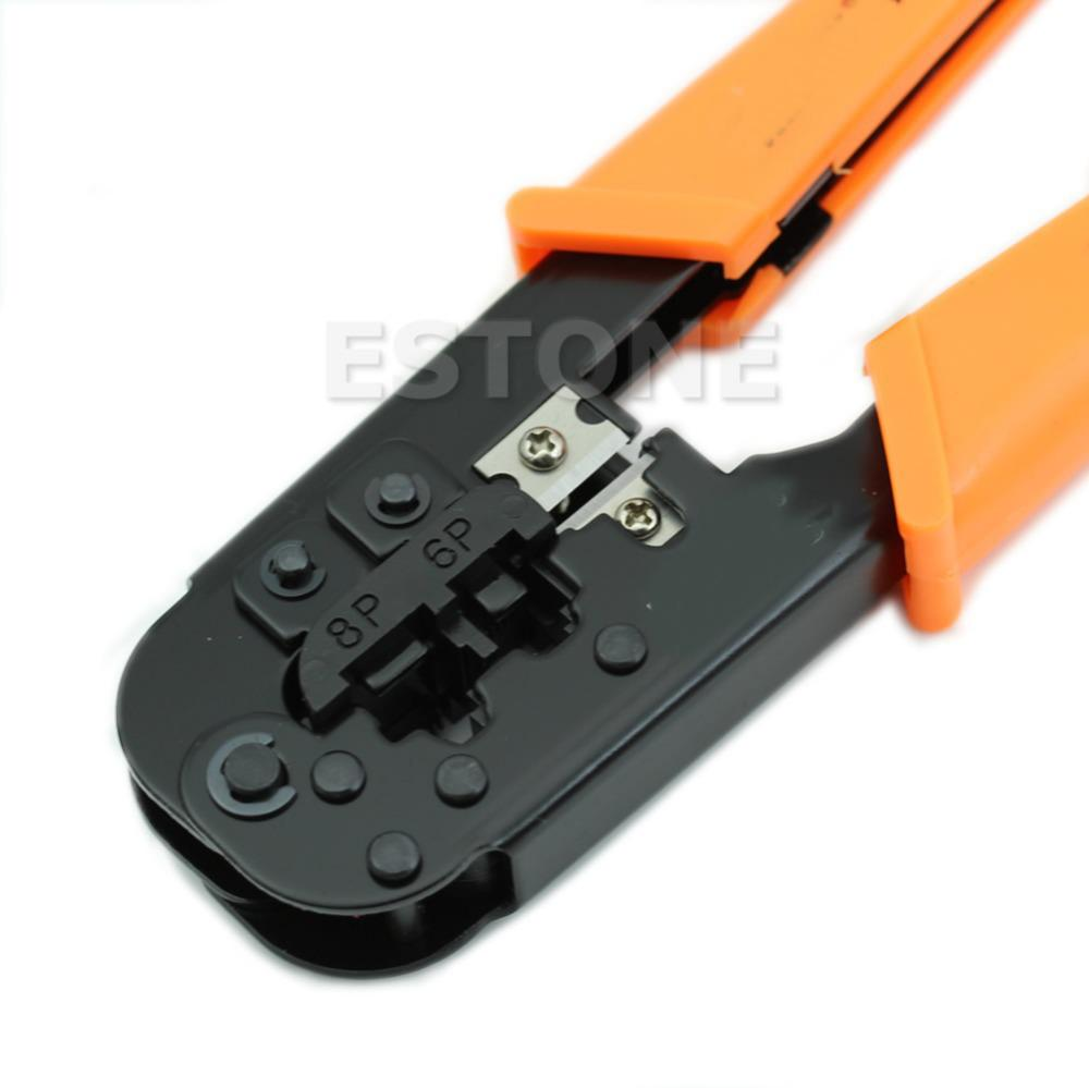 RJ11 RJ45 6P 8P Ethernet Cable Crimping Plier Network Clamp Tool New ...