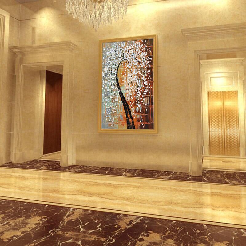 Rouge Wight Plum Fleur Peint À La Main Couteau Toile Peinture À L'huile de Haute Qualité Maison Décorative Moderne Peinture Épais Texture JL112