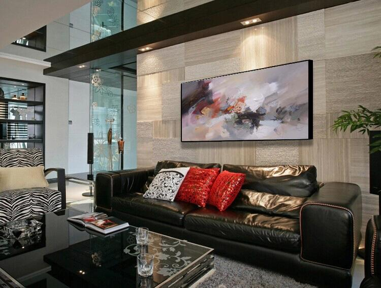 Abstract Series Hand Painted High quality Living Room Office Modern Decorative Art Canvas Mural Thick Oil Knife Painting JL293