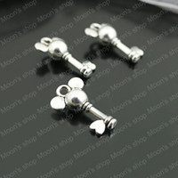 Wholesale Vintage Charms Pendants Alloy Antique Silver MM Mickey Mouse Key