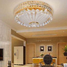 $enCountryForm.capitalKeyWord Canada - K9 Crystal LED Ceiling Light Modern Fashion Minimalist Ceiling Lamp Remote Control Light Dia 55cm H 25cm