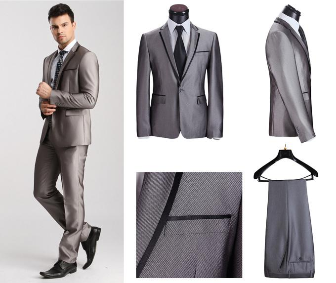 2017 Men'S Fashion Suit, Casual Wedding Suits Mens Fitted Clothes ...
