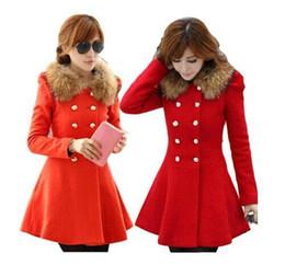 Wholesale Double Breasted Lady S Coat - Fashion Ladies Casacos Femininos Elegant Long Sleeve Slim Woollen Coat Double Breasted Winter Women Coats 8877