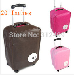 Wholesale Trolley Trunk Suitcase - New 3pcs lot 3 Colors 5 sizes Luggage Bag Covers 20 22 24 26 28 inch Trolley Suitcase Travel Trunk Dirt-Proof Protective Cover