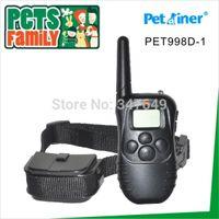 Wholesale Vibrating Harness - Wholesale-2pcs lot Wholesale 300M Remote control electric vibrating dog Training Collar bark stop collar