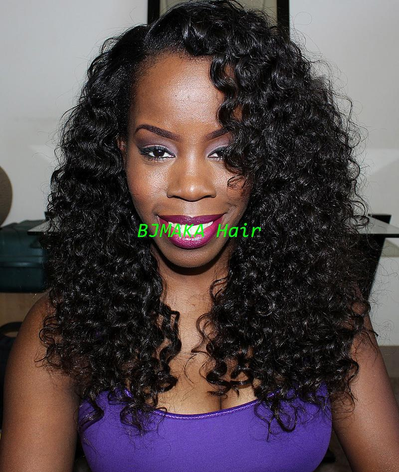 2014 New Black Women\'S Hairstyles Brazilian Human Hair Curly Lace ...