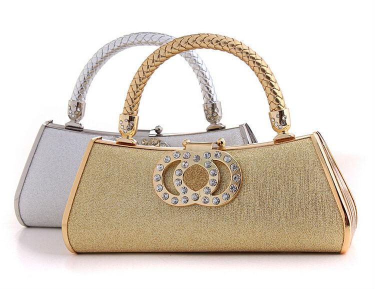 Fashion Lovely Women Evening Bags Gold/Silver Evening Party Purse ...
