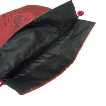 Pequeño bordado de frutas bolsa de tela de raso bolsa de almacenamiento de joyería con cordón bolsas de regalo fiesta de cumpleaños bolsas de bolsos de lavanda de la bolsita del favor 11x14