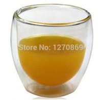 Wholesale Bodum Coffee - Wholesale-Free Shipping 2Pcs lot Bodum 80ml Pavina Double Wall shot Glass Tumbler Glass Coffee Cup,Double Wall Espresso Glass,Novelty