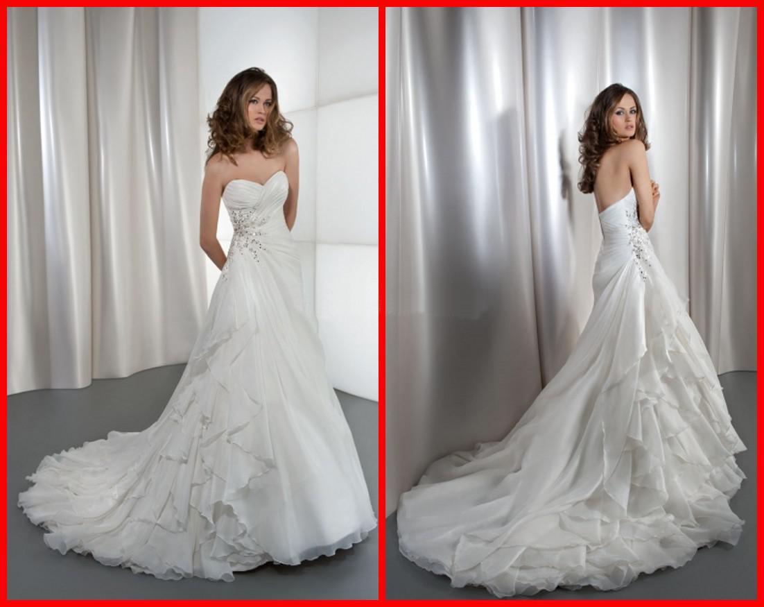 Simple A Line Sweetheart Taffeta Wedding Dress With: Discount Simple A Line Wedding Dresses With Sweetheart