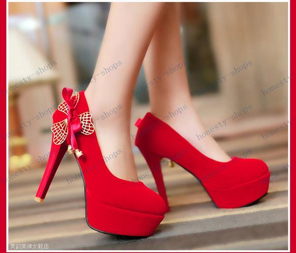 Chaussure A Talon Femme Rouge