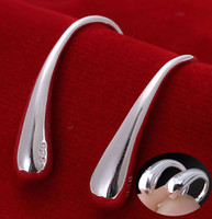 Wholesale Loose Fill Wholesale - Loose Money Wholesale 925 Silver Earring Fashion High Quality Jewelry Water Drop Silver Earrings For Women Wedding Earrings [JE06287*12]