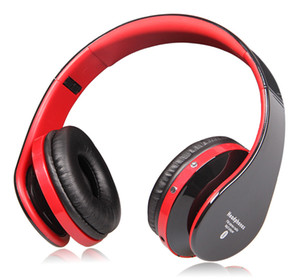 bluetooth-sound cancelling-kopfhörer großhandel-Faltbarer High Fidelity Surround Sound Noise Cancelling Wireless Stereo Bluetooth Kopfhörer Headset mit Mikrofon TF Karte unterstützt