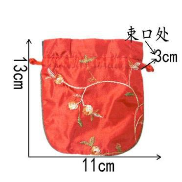 fillet Embroidery Fruit Small Cloth Pouch Satin Fabric Jewelry Gift Bag Drawstring Empty Candy Tea Packaging Spice Sachet Coin Pocket