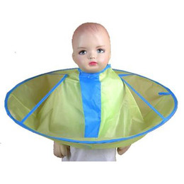 Wholesale Hair Cutting Capes Children - baby kid children umbrella hair cutting cape waterproof smooth 3pcs lot
