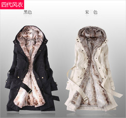 Discount Fur Lined Winter Hooded Coat | 2017 Fur Lined Winter ...