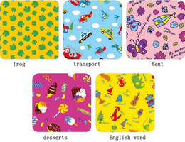 blanket wholesalers Canada - Picnic Mat Large Size Blanket Baby Climbing Mats Children's Play Mats Portable Beach Mats Folded blanket Cartoon Design