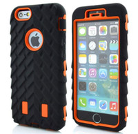 Wholesale hard plastic tire online - Robot in Tire Tyre Hybrid impact combo hard case PC silicone Armor rugged For iPhone TH