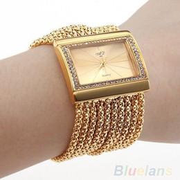 Wholesale Steel Butterfly Bracelets - women dress watches New Classic Fashion Quartz Women's Gold Diamond Case Alloy Band wristwatches Bracelet Watch 02DP
