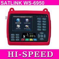 Wholesale Satellite Meters - New 3.5 inch Original Satlink WS 6950 Digital Satellite Signal Finder Meter WS6950 WS-6950 Free Shipping