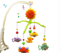Wholesale Toy Ring Baby - FREE SHIPPING Baby Toys for 0-12 Months Hand Bed Crib Musical Hanging Rotate Bell Ring Rattle Mobile