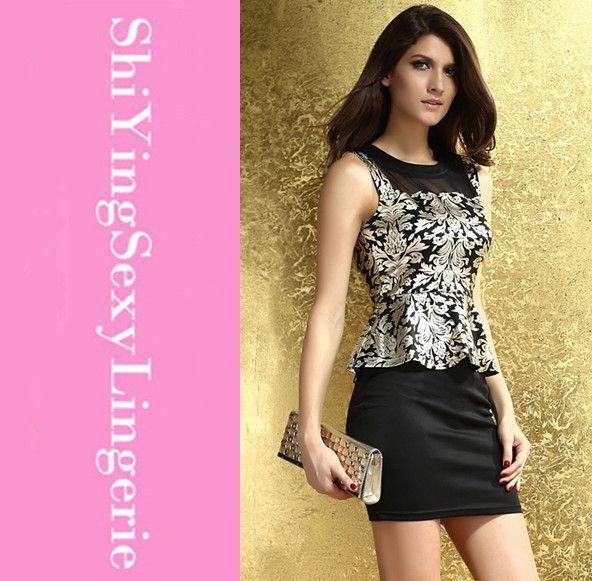 Vestidos De Fiesta Woman Dress Lowest Price New Sexy Mature Foil ...