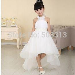 Wholesale Designer Dresses For Graduations - Real Image Hot sell 2014 Free shipping Flower girl dresses for weddings Elegant trailing gown 3-12 age designer flower girl gowns for kids