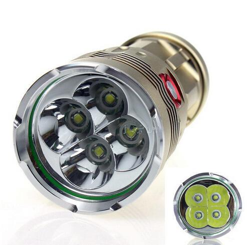 Spedizione gratuita, Super Bright Skyray King 6000 Lumen 4x CREE XM-L XML 4x T6 LED Torcia Lampada Torcia ad alta potenza