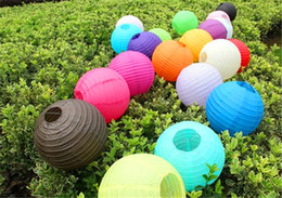 Wholesale Chinese Paper Lanterns 12 - 12 inch (30cm) Chinese Paper Lantern Round Wedding Lantern for Birthday Wedding Party Decoration gift craft DIY