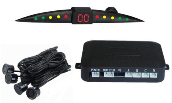 best selling Spot PZ301 LED Parking Sensor Car Crescent Beeper Reversing Radar Four Probes Numeral LED Digital Display