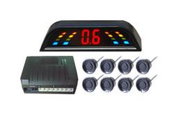 Carro lcd digital que inverte a câmera on-line-Sensor do estacionamento do ponto PZ303 LED, radar de inversão do Beeper crescente do carro, quatro pontas de prova, indicação digital numeral do diodo emissor de luz