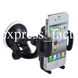 Wholesale S4 Cradle - Universal Phone Car Windshield Mount Stand Cradle Holder For iPhone4 4S iPhone 5 5S 5C Samsung Galaxy S5 S4 S3 Note 3 100pcs lot