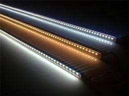 white warm strip rigid bar 2019 - 12V 24V 5050 LED Cabinet Light Bar Aluminium Waterproof led Rigid Strip Lights SMD 5050 lamp 30cm 50cm 80cm 100cm cheap