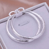 Wholesale Women Pretty - High quality NEW women lady wedding party Beautiful fashion 925 sterling silver cute pretty hook Classic Spiral circle earring jewelry E292
