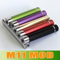Wholesale M11 Ego - Epacket free M11 Mod Battery use 14650 battery Colorful Mechanical M11 Mod Battery for eGo 510 Thread Atomizer goodwillbiz