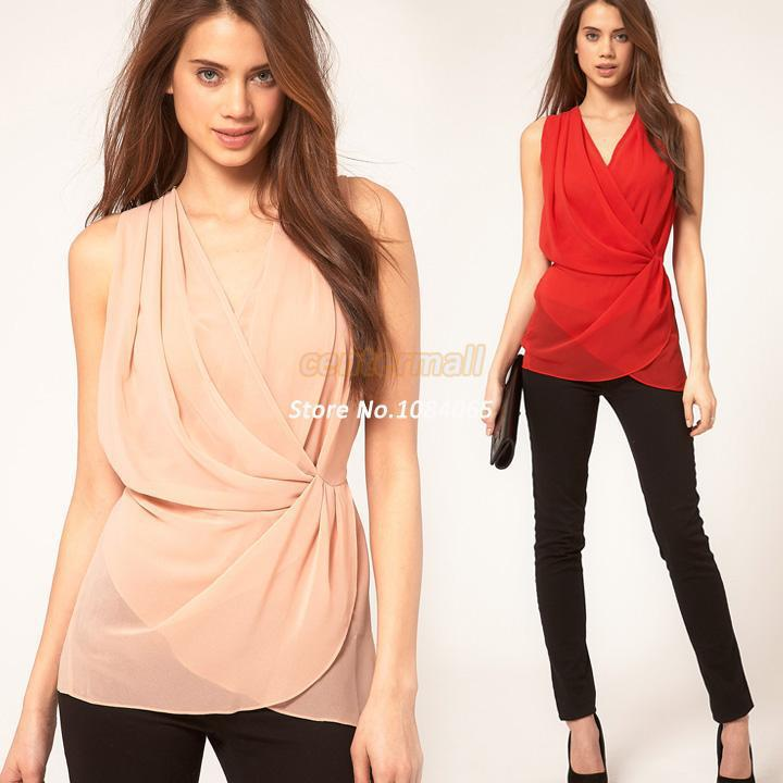 thoughts on detailing super specials 2019 Spring Women'S Chiffon Party Blouses Lady Casual Solid Shirts  Sleeveless Womens Tops Fashion 2016 Black/Pink Camisas Femininas SV004183  From ...
