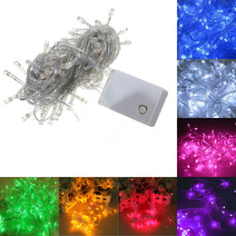 Wholesale Christmas Outdoor Lighting Sale - Wholesale-Holiday Sale Outdoor 10m 100 LED string 8 Colors choice , Energy String Fairy Lights Waterproof Party Christmas Garden lights