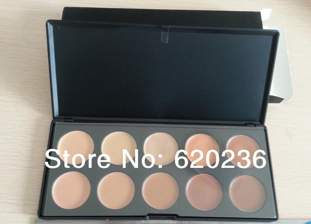 HOT new Professional makeup 10 Color Concealer plate(60pcs lot) factory price wholesale