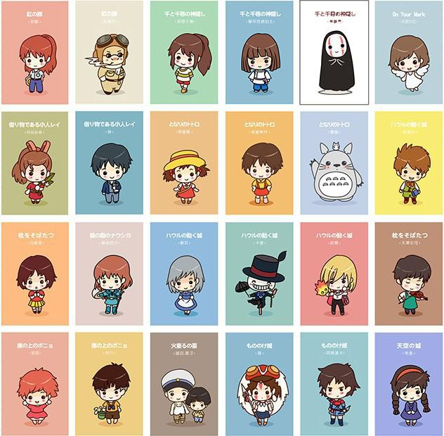 Vintage Miyazaki Animated Characters Postcards Birthday Card Greeting Gift Fashion Xmas Cards A From Caidi 2163